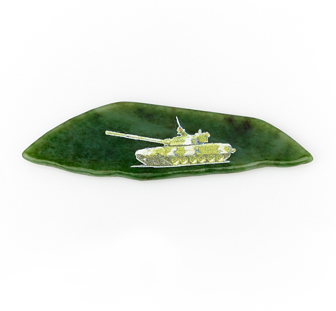 Магнит нефрит зеленый 6-10 см