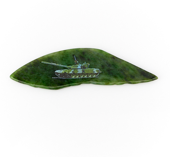 Магнит нефрит зеленый Россия 6-10 см