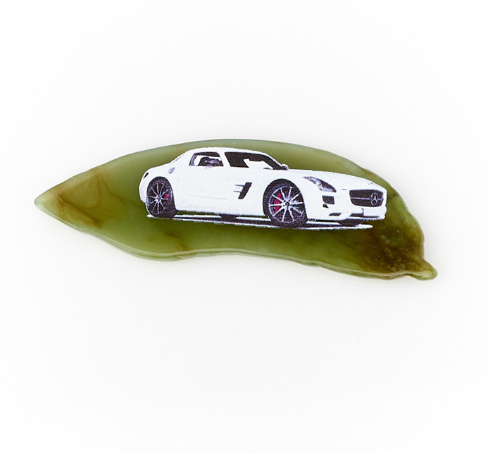 Магнит нефрит зеленый 6-10,5 см
