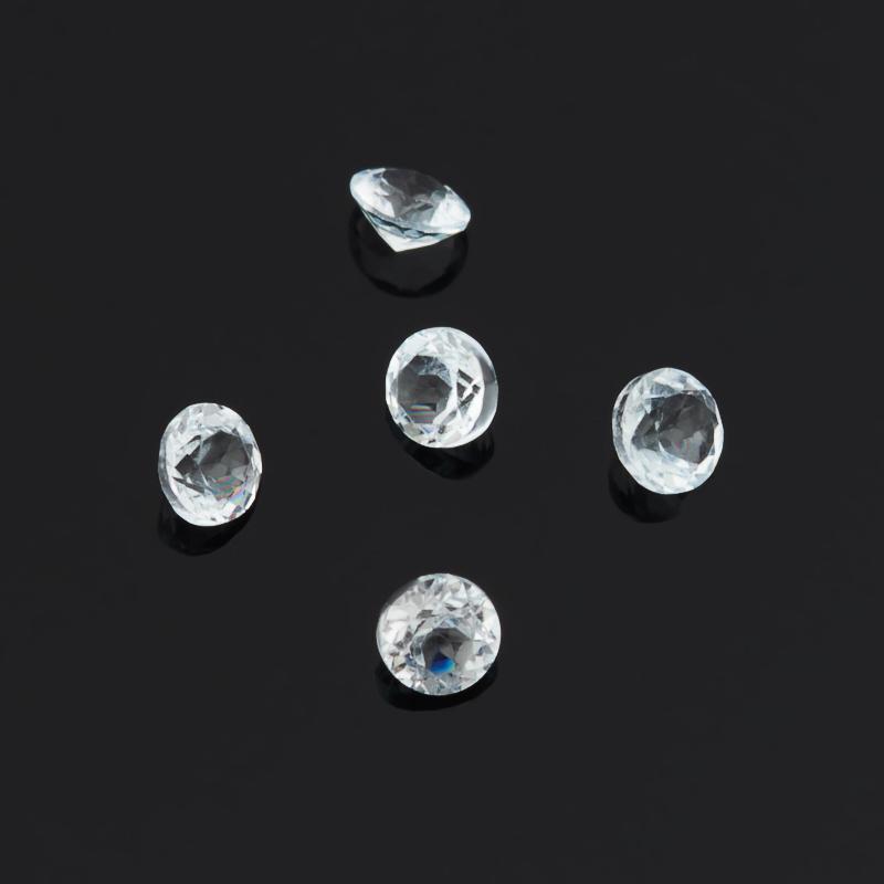 Огранка топаз голубой Бразилия круглая (1 шт) 2 мм