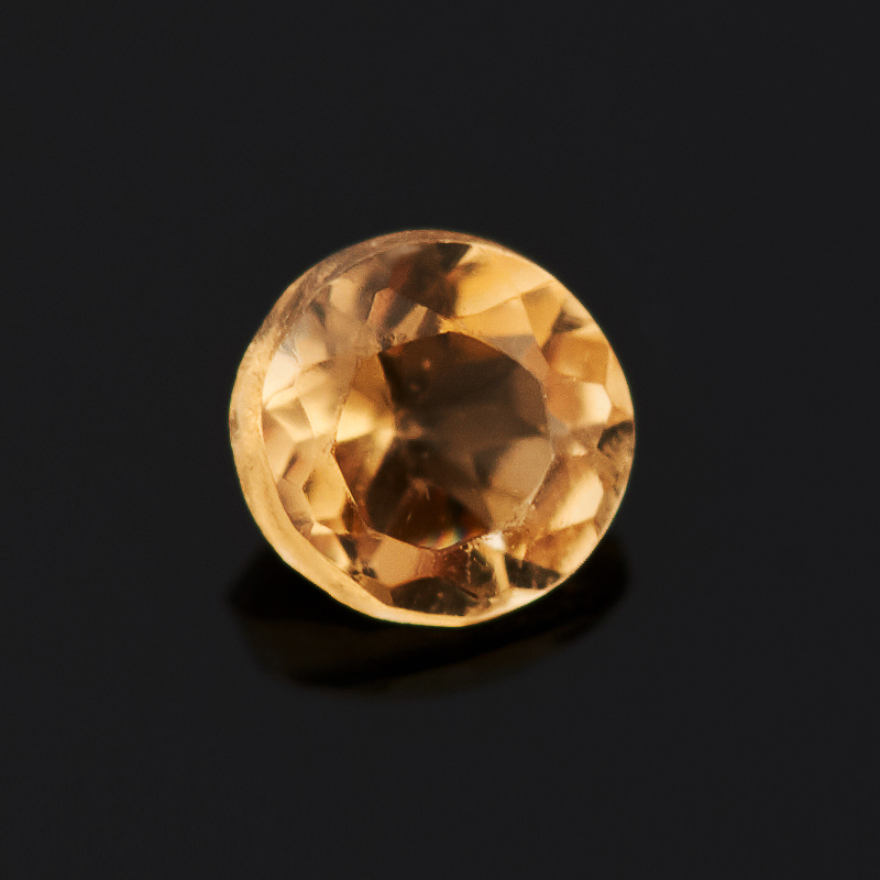 Огранка цитрин круглая (1 шт) 2 мм