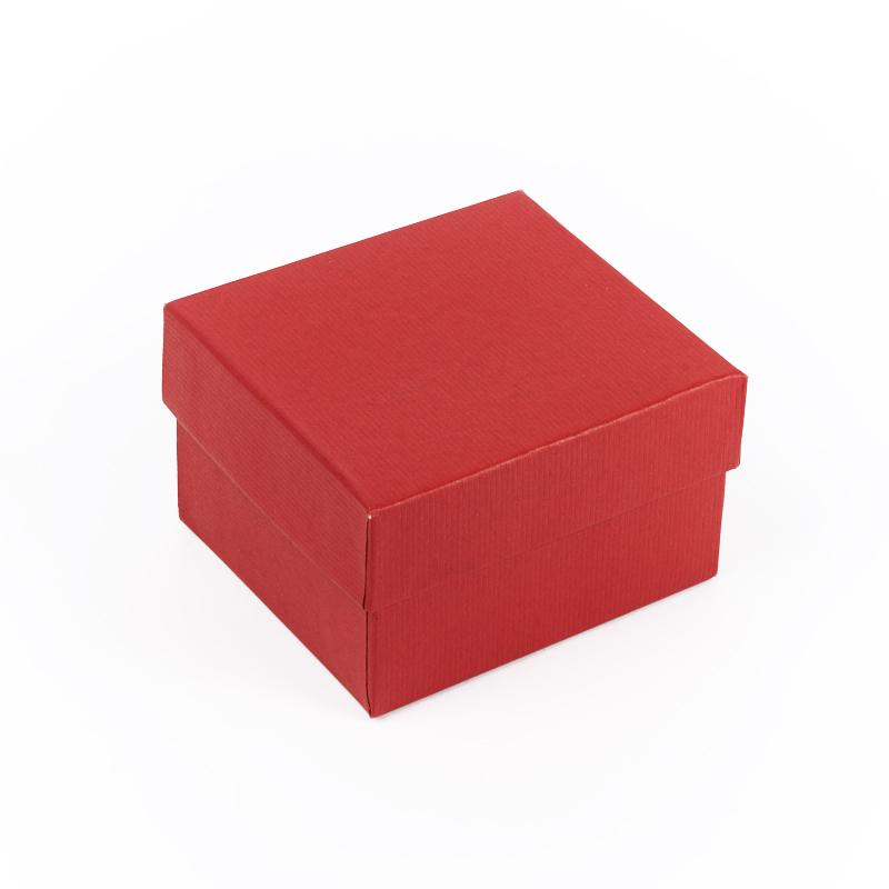 Подарочная упаковка под браслет/часы (красный) 80х75х50 мм