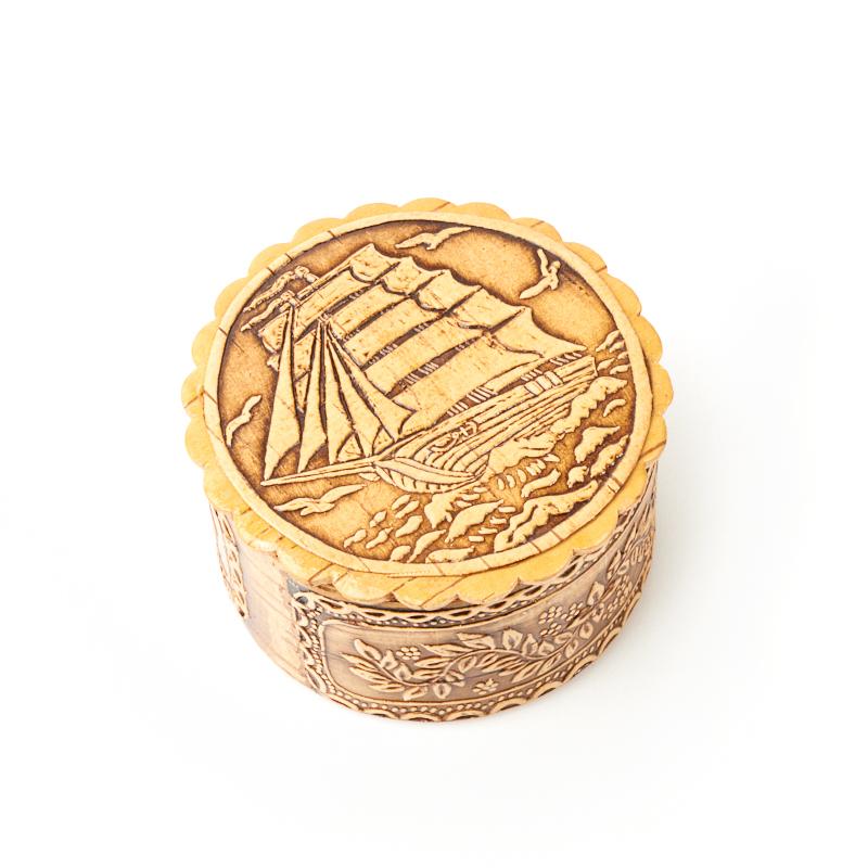 Шкатулка для хранения украшений 6х6х3,5 см