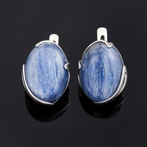 Серьги кианит синий Бразилия (серебро 925 пр.)