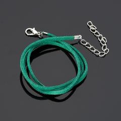 Шнурок (зеленый) 44 см (+5 см) (иск. кожа)