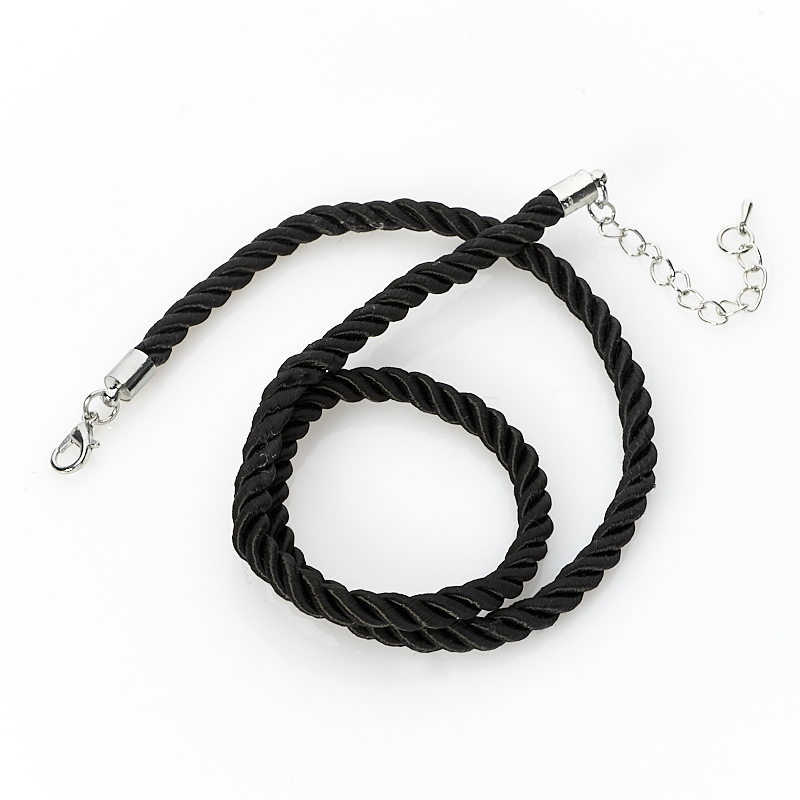 Шнурок черный 46-52 см (текстиль)