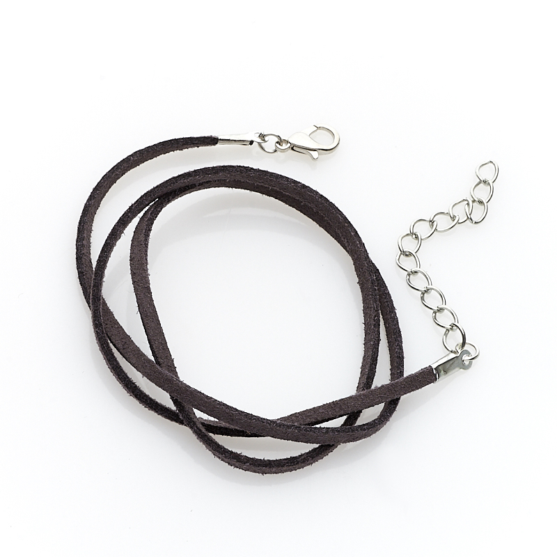 Шнурок серый 45-50 см (иск. кожа)