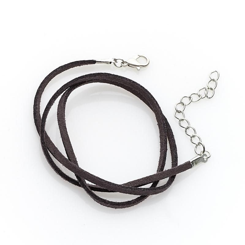 Шнурок (кожа иск.) (серый) 45 см (+4 см) шнурок коричневый 46 см 4 см иск кожа