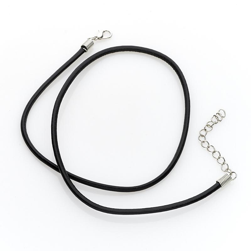Шнурок (кожа иск.) (черный) 46 см (+4 см) шнурок коричневый 46 см 4 см иск кожа