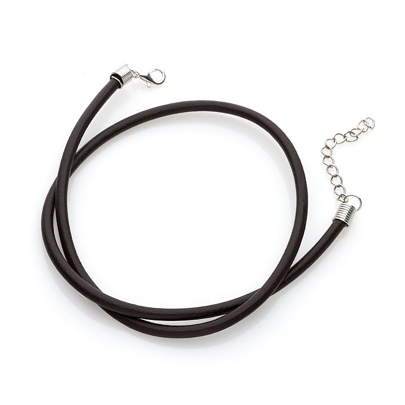 Шнурок коричневый 47-51 см (иск. кожа)