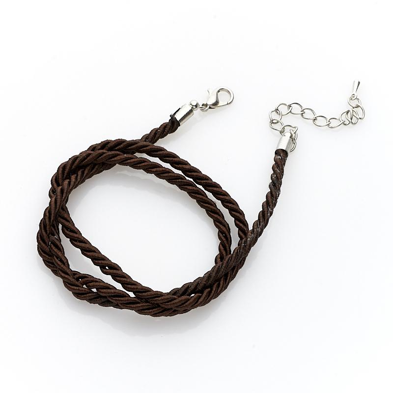 Шнурок коричневый 49-54 см (текстиль, нейлон)