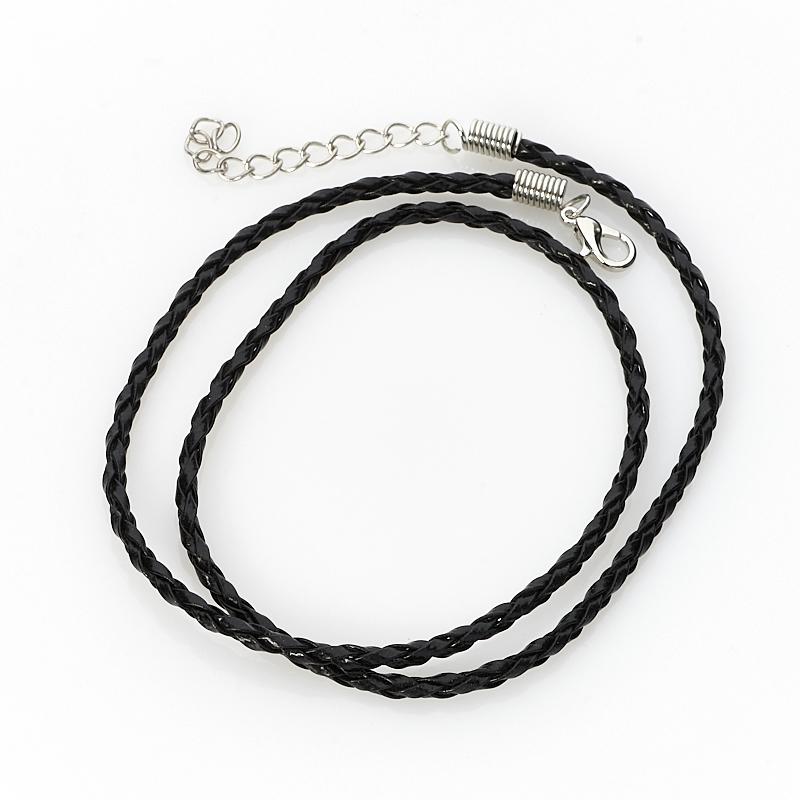 Шнурок (кожа иск.) (черный) 47 см (+4 см) шнурок коричневый 46 см 4 см иск кожа