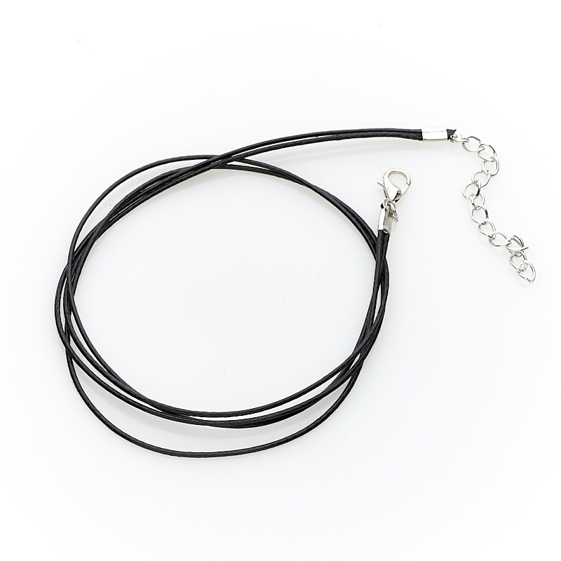 Шнурок черный 44-49 см (нейлон)