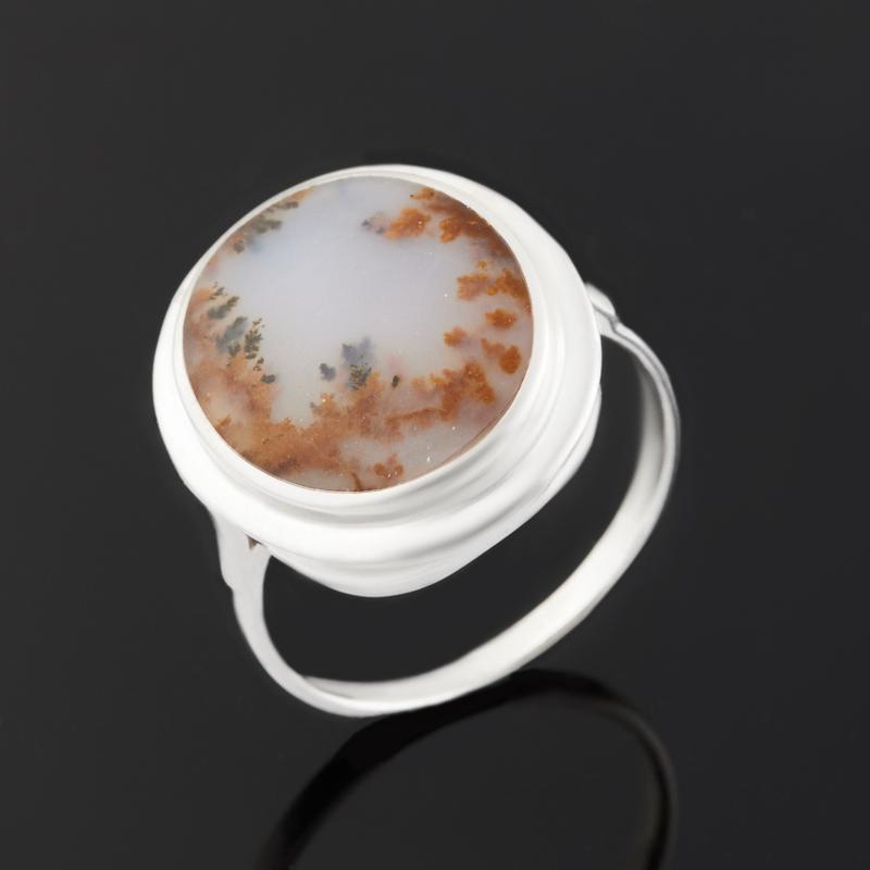 Кольцо агат пейзажный (серебро 925 пр.) размер 18 цена