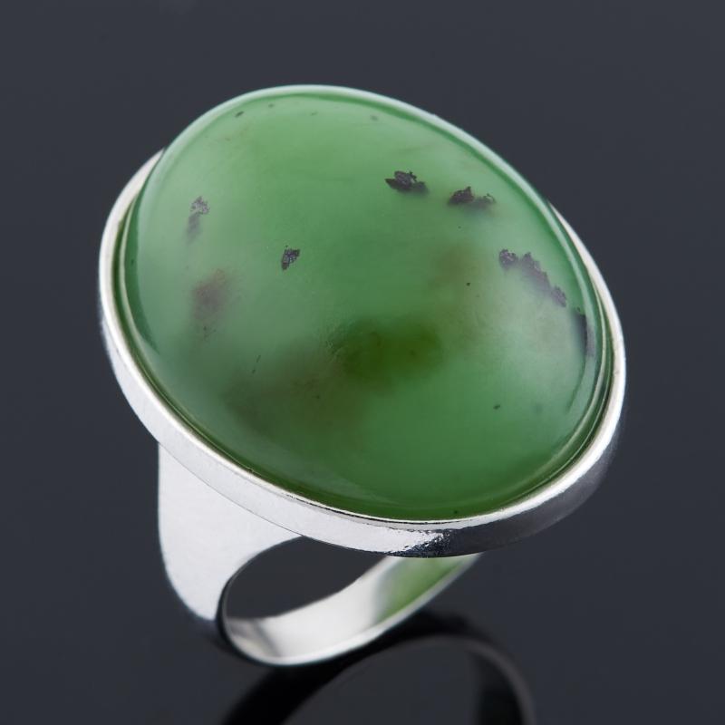 Кольцо нефрит зеленый (серебро 925 пр.) размер 18,5 кольцо нефрит зеленый серебро 925 пр размер регулируемый