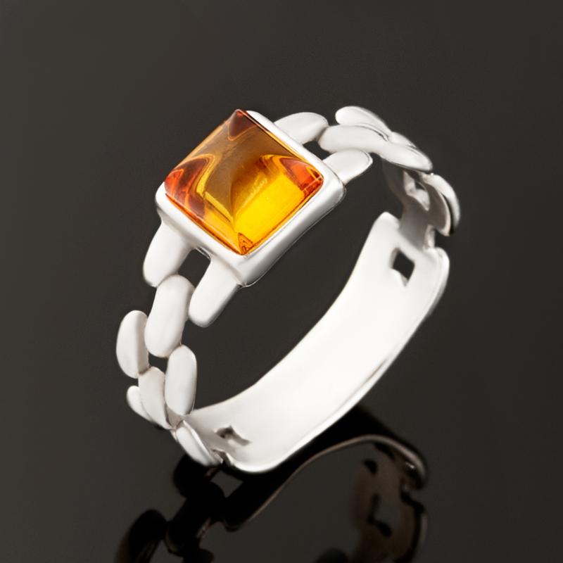 Кольцо янтарь (серебро 925 пр.) размер 18 кольцо кахолонг серебро 925 пр размер 18