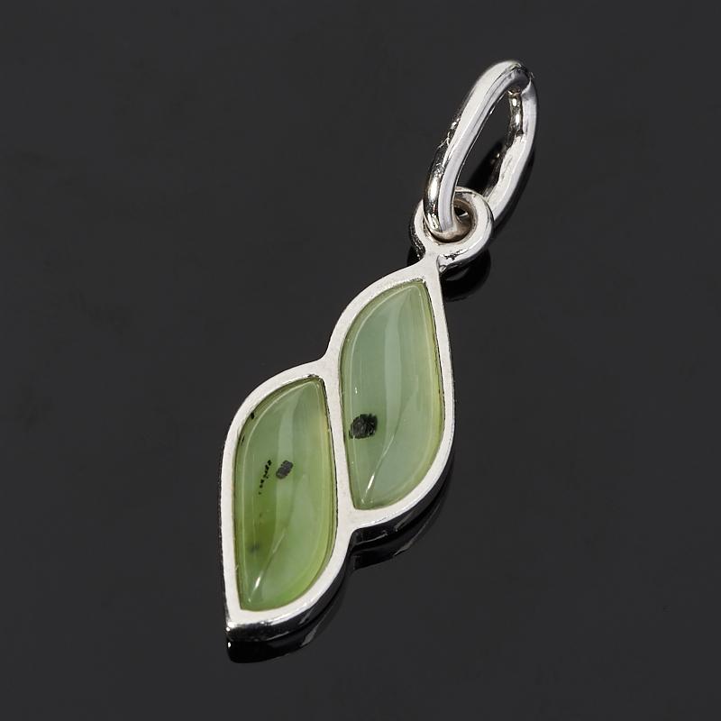 Кулон нефрит зеленый (серебро 925 пр.) браслет классика 8 нефрит револю