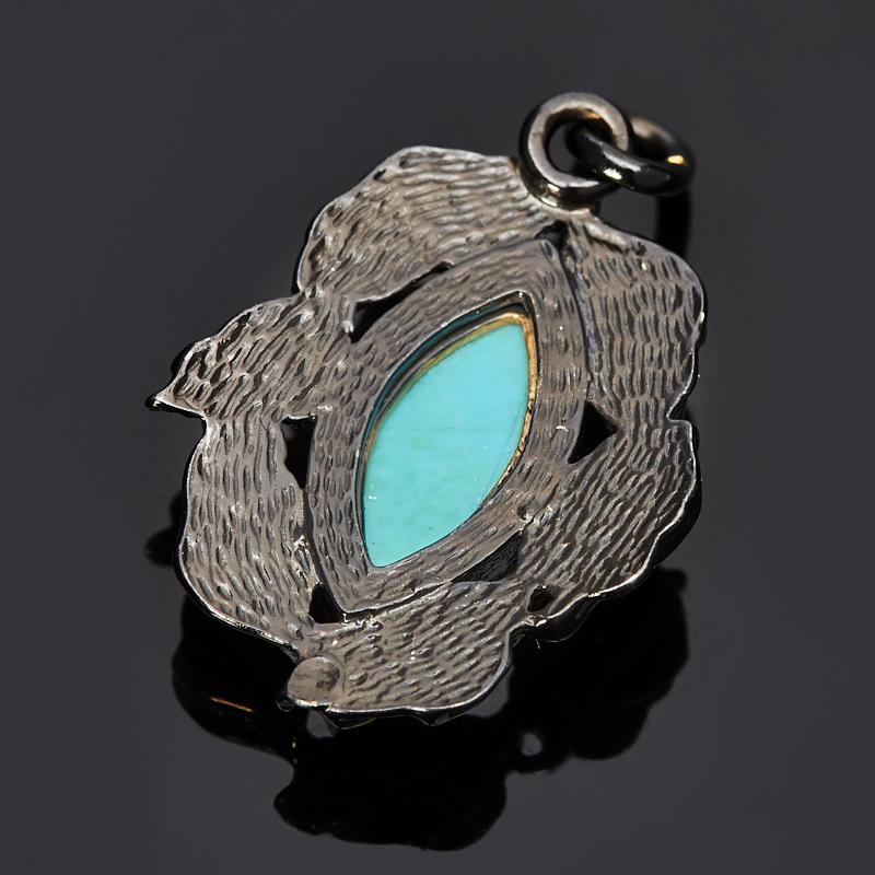 Кулон бирюза Тибет (серебро 925 пр., позолота)
