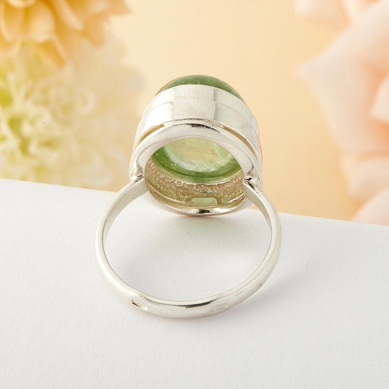 [del] Кольцо берилл Россия (серебро)  размер 18