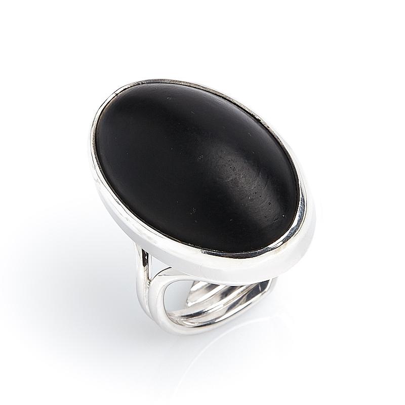 Кольцо гагат матовый Грузия (серебро 925 пр.) (регулируемый) размер