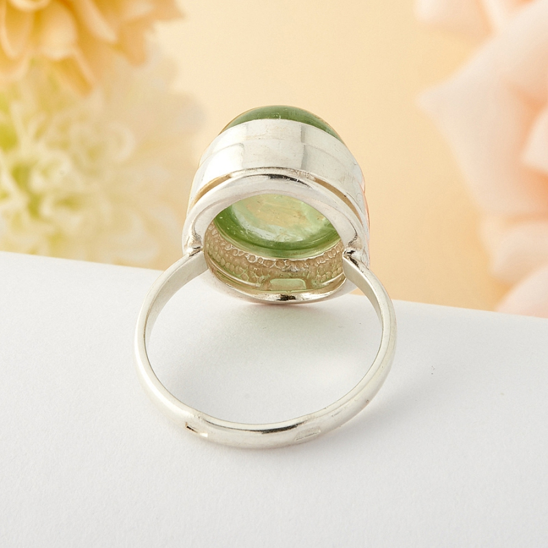 [del] Кольцо берилл Россия (серебро)  размер 21