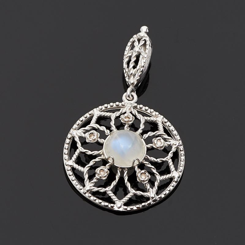 Кулон лунный камень (адуляр) (серебро 925 пр.) кулон лунный камень прямоугольник серебро 925 пр