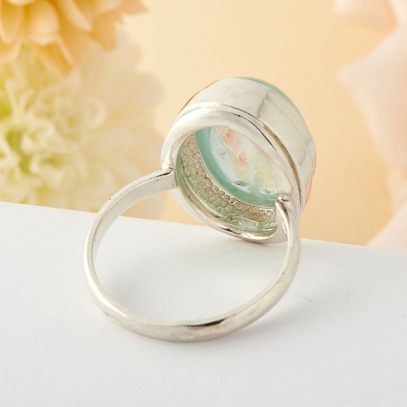 [del] Кольцо аквамарин Россия (серебро)  размер 16