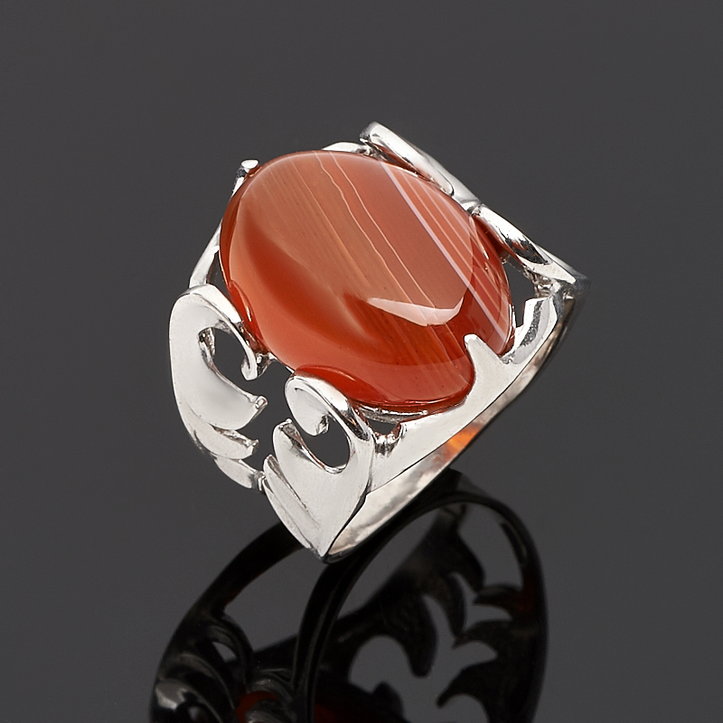 Кольцо сердолик (серебро 925 пр.) размер 18 кольцо кахолонг серебро 925 пр размер 18