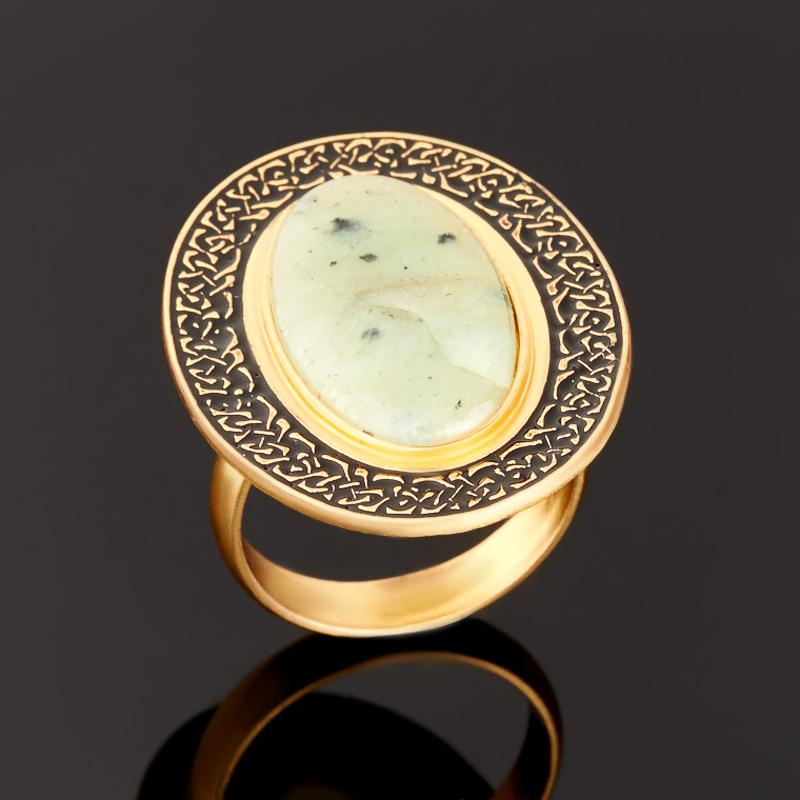 Кольцо нефрит зеленый (серебро 925 пр., позолота) размер 18,5 кольцо нефрит зеленый серебро 925 пр размер регулируемый