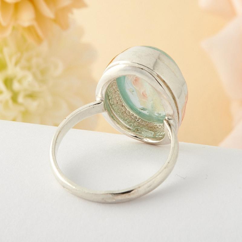 [del] Кольцо аквамарин Россия (серебро)  размер 15,5