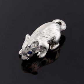 Мышка сапфир Индия (серебро 925 пр.) 1,5 см