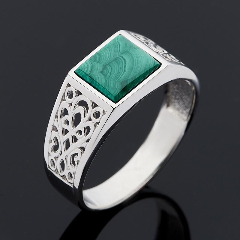 Кольцо малахит (серебро 925 пр.) размер 21,5