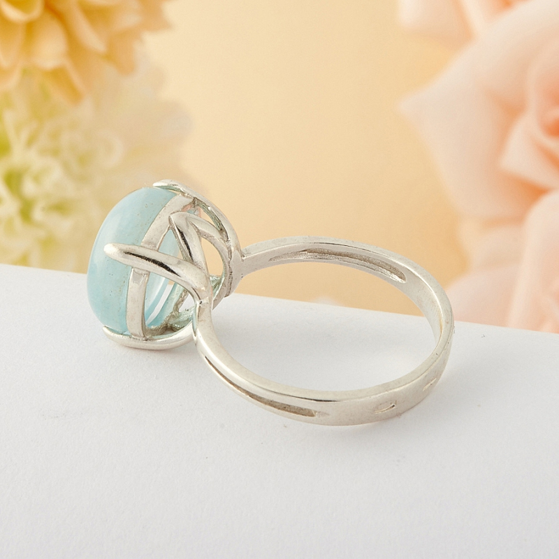 [del] Кольцо аквамарин Россия (серебро)  размер 19
