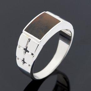 Кольцо агат пейзажный Казахстан (серебро 925 пр.) размер 20,5