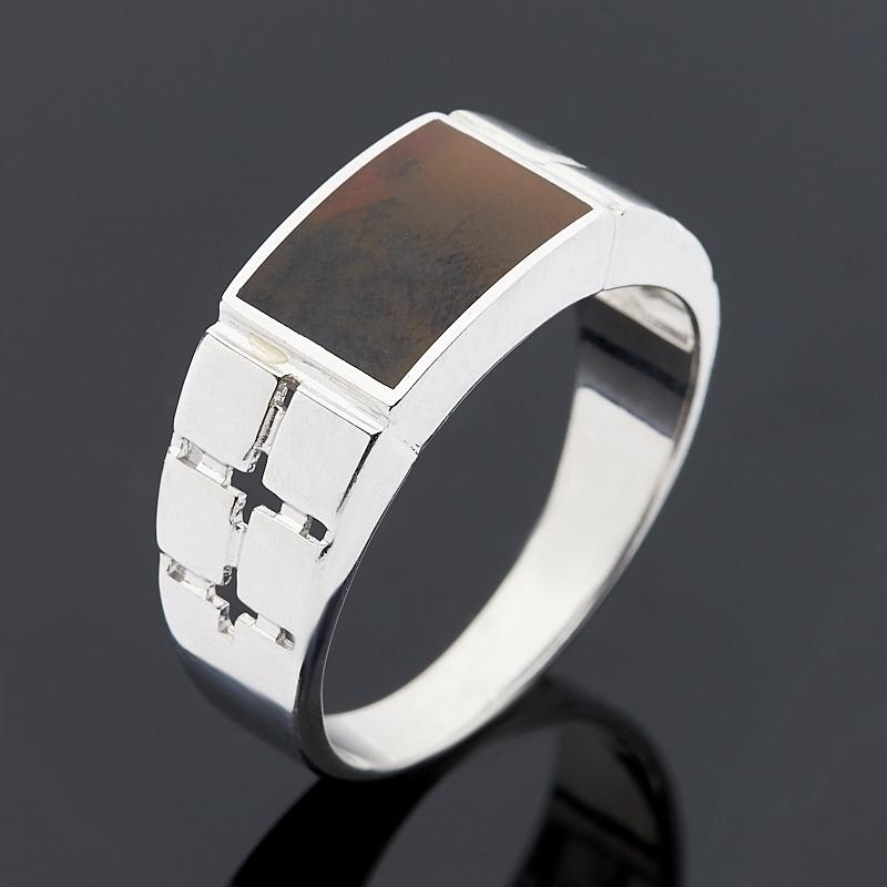 Кольцо агат пейзажный (серебро 925 пр.) размер 20,5