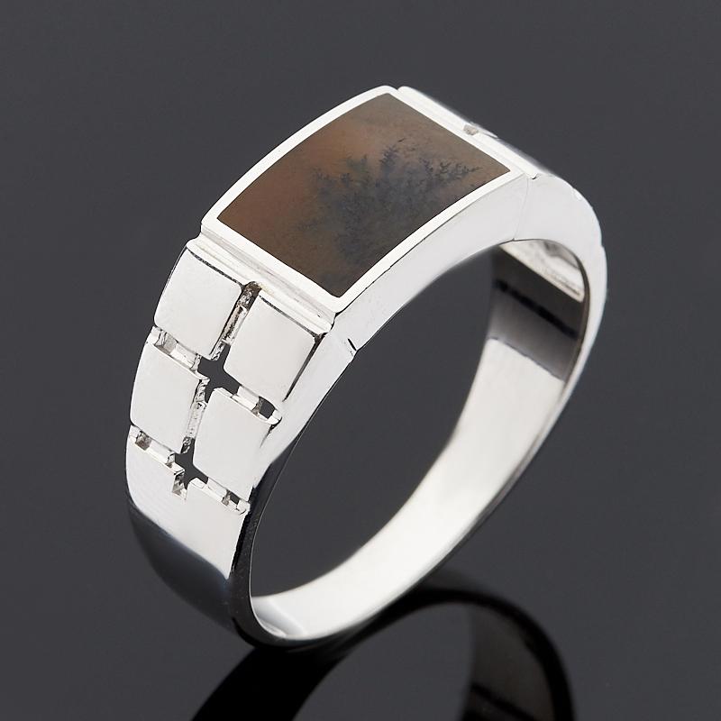 Кольцо агат пейзажный (серебро 925 пр.) размер 21,5