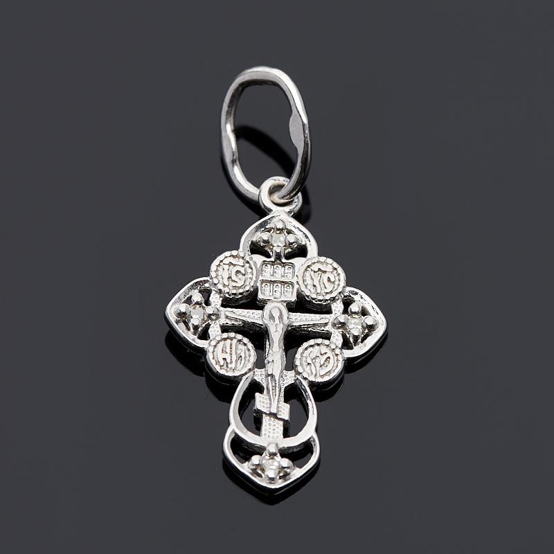 цена на Кулон бриллиант крест огранка (серебро 925 пр.)