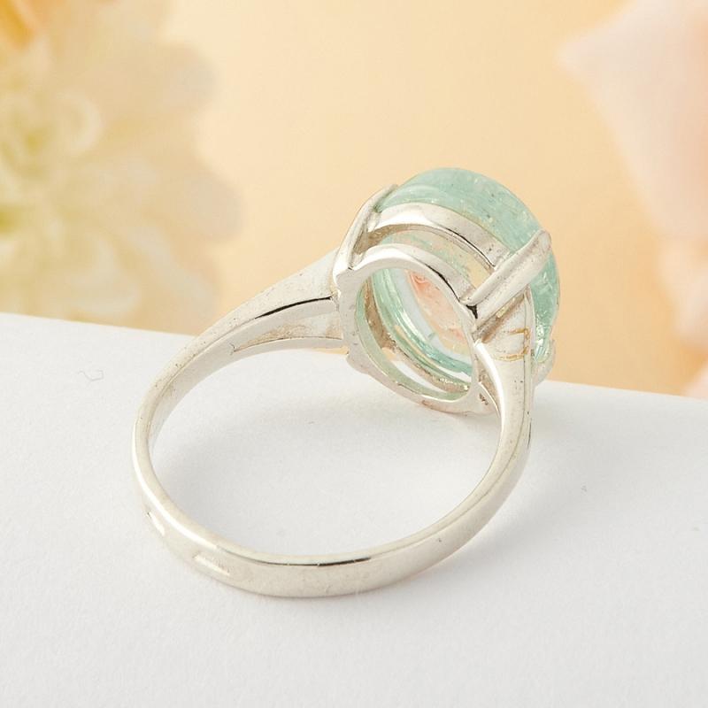 [del] Кольцо аквамарин Россия (серебро)  размер 18