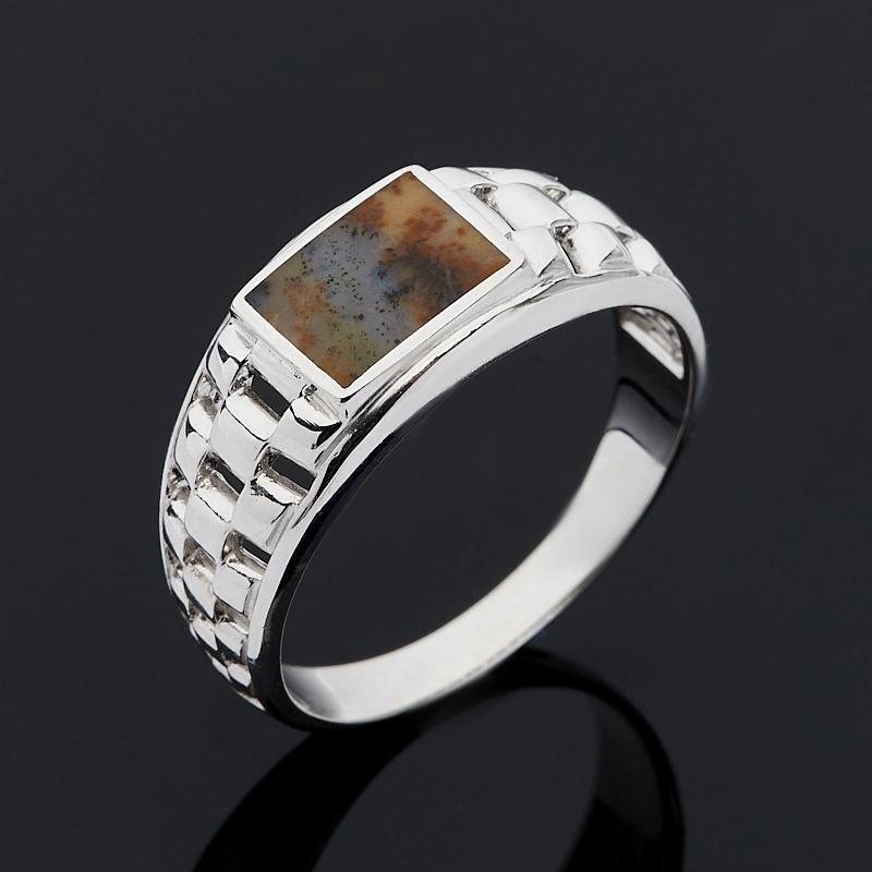 Кольцо агат пейзажный (серебро 925 пр.) размер 20