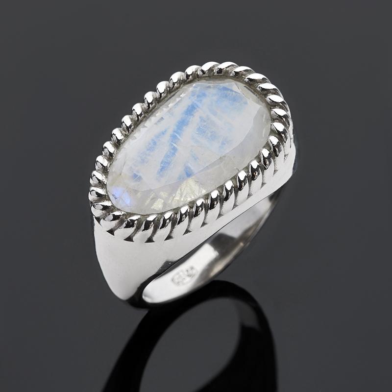 Кольцо лунный камень огранка (серебро 925 пр.) размер 18,5 ar535 925 чистое серебро кольцо 925 серебро ювелирные изделия кокосовый орех вал инкрустированные красный камень bdbajuia dsyamkfa