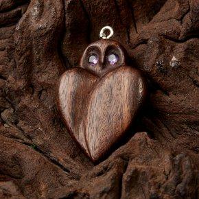 Кулон аметист Бразилия огранка (дерево)