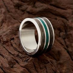 Кольцо малахит Конго  размер 17,5