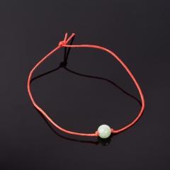 Браслет авантюрин зеленый Индия красная нить Для раскрытия творческого потенциала 8 мм регулируемый
