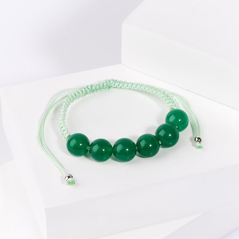 Браслет авантюрин зеленый шамбала 10 мм 14 см браслеты револю браслет лилу авантюрин