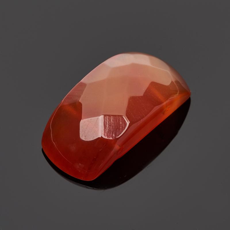Бусина сердолик прямоугольник 12*24 мм огранка (1 шт) бусина коралл красный сплюснутый шар 3 5 4 мм огранка 1 шт