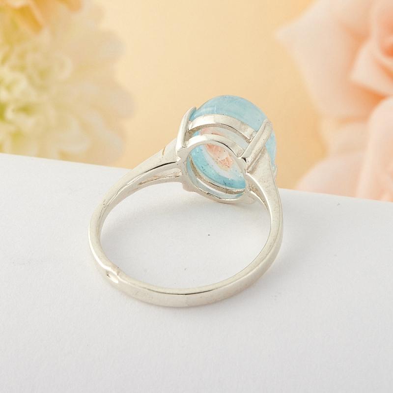 [del] Кольцо аквамарин Россия (серебро)  размер 17