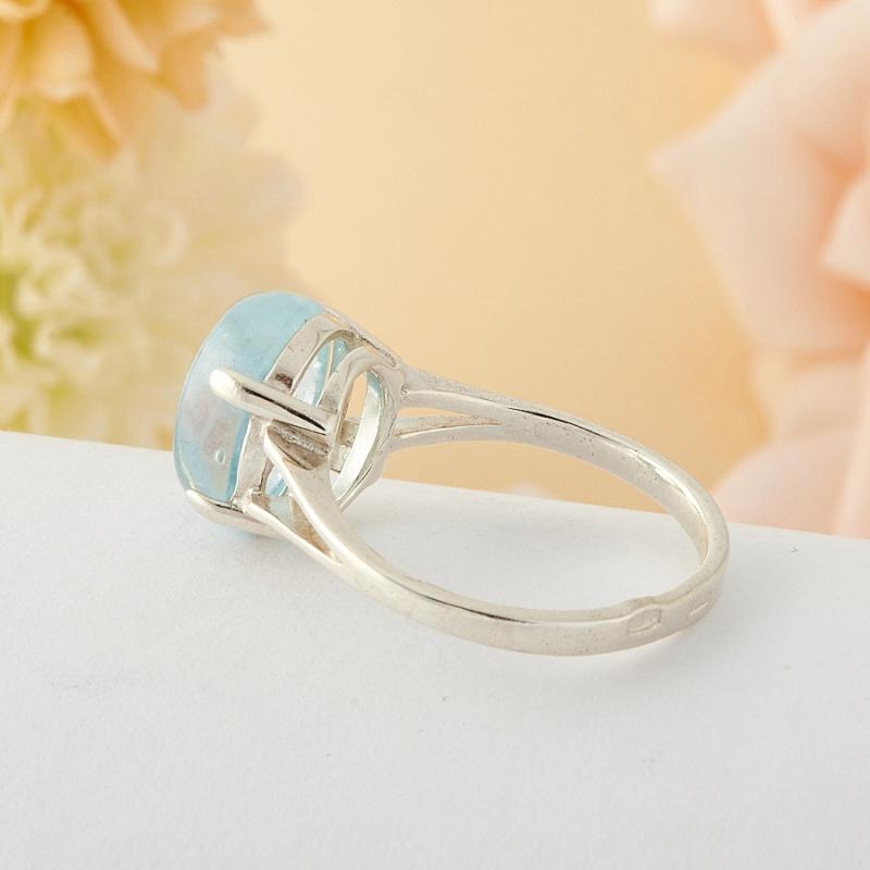 [del] Кольцо аквамарин Россия (серебро)  размер 19,5