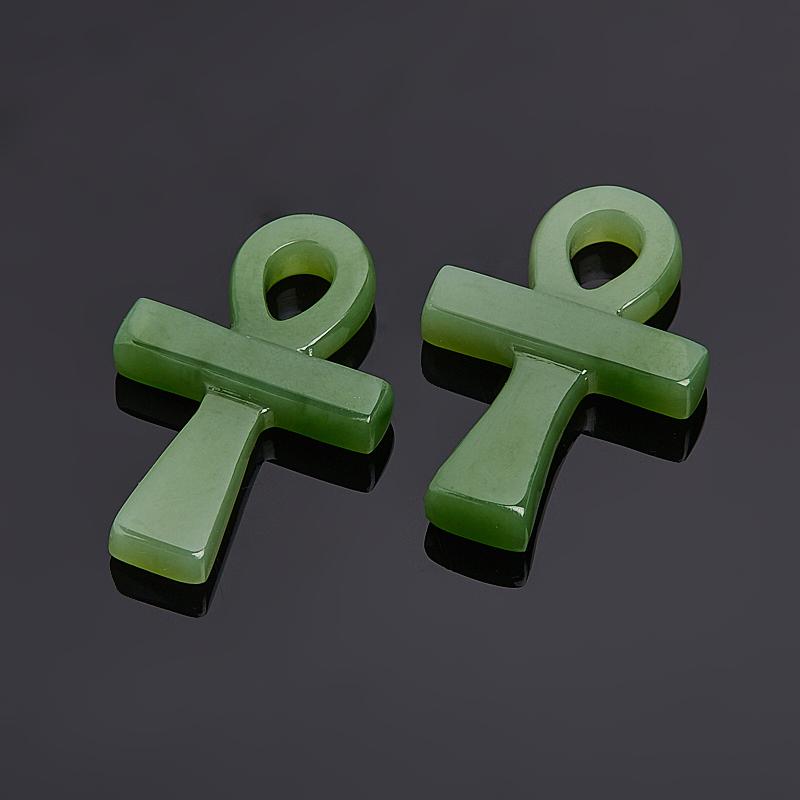 Кулон нефрит зеленый 3,5 см