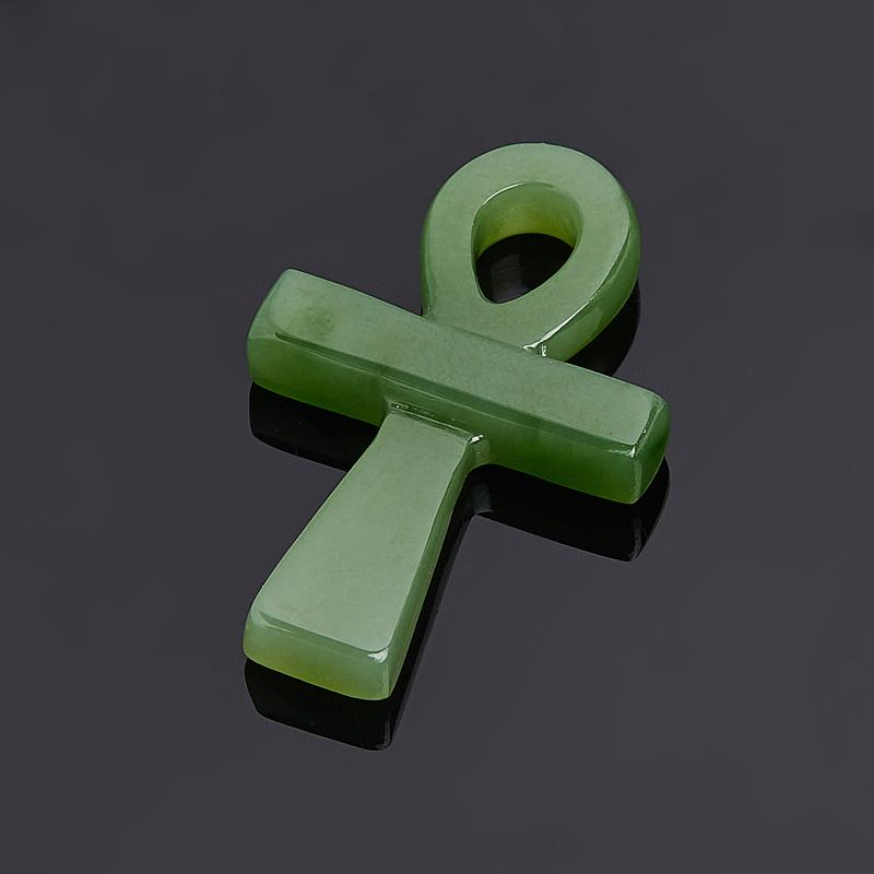 Кулон нефрит зеленый Россия 3,5 см