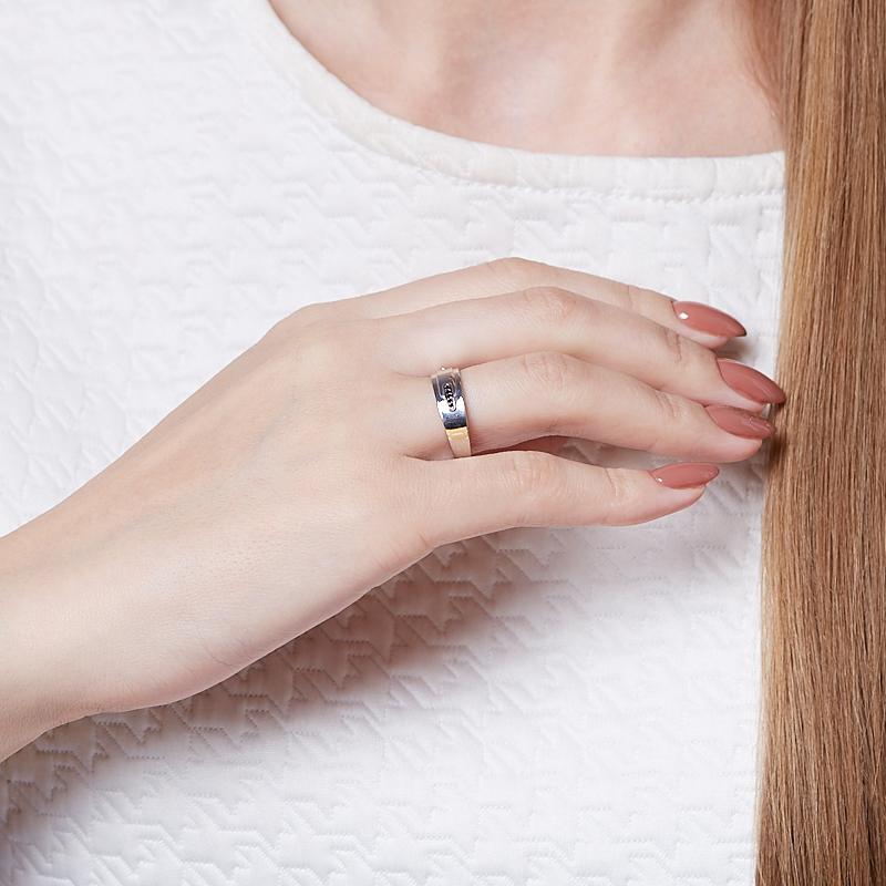 Кольцо бриллиант Россия огранка (серебро 925 пр.) размер 19,5